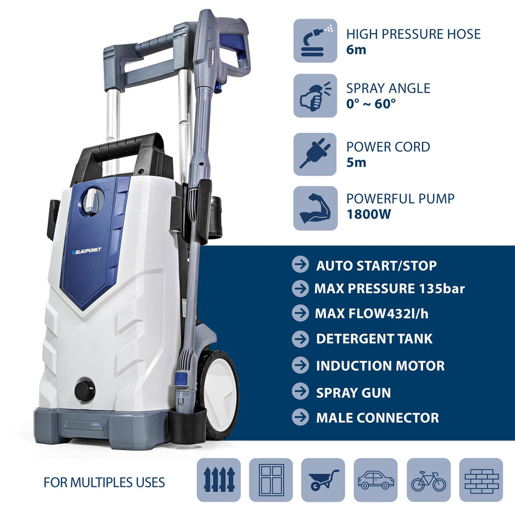 Pressure Washer PW5200i 1800W with Aluminium Induction Pump
