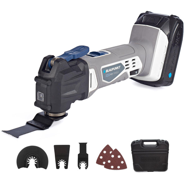 Cordless Oscillating Multi-Tool BP5122 – 2Ah 18V Lithium-Ion Battery – Fast Charger – Accessory Kit and Hard Storage Case
