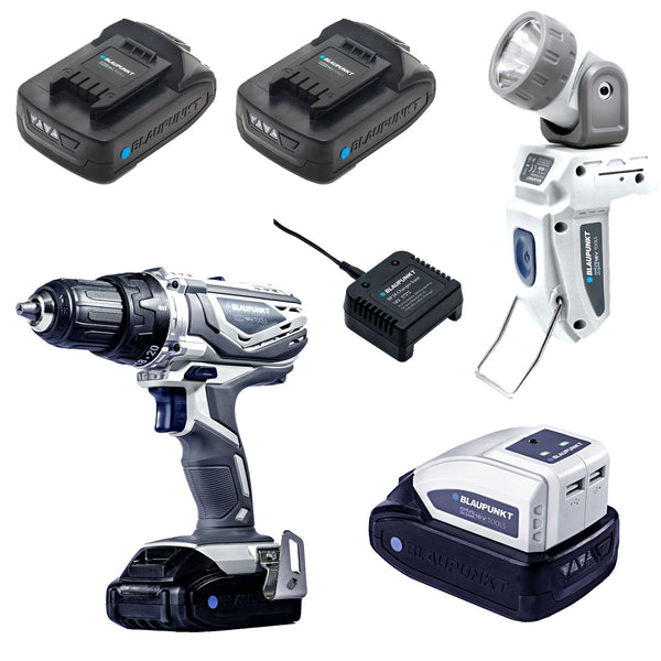 Blaupunkt Cordless Drill/Screwdriver and Accessories Set