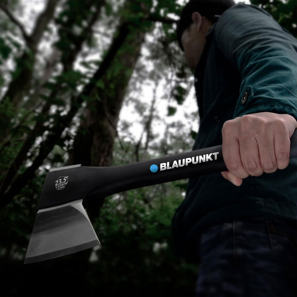 "Felling Axe CX7000 for Wood - 2.8lb 1.2kg - 23.5"" 60cm  -  With Sharpener and Storage Mount"