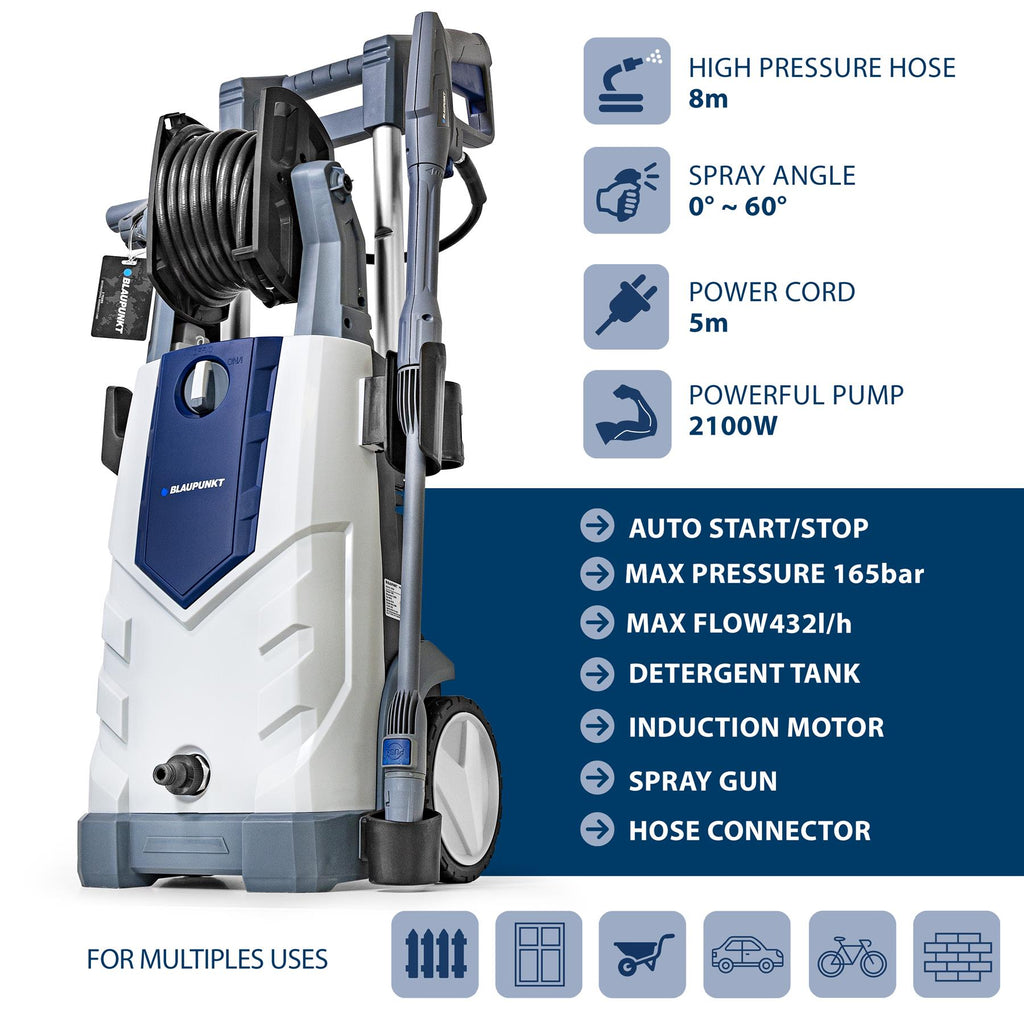 Pressure Washer PW7200i with 2100W Aluminium Induction Pump