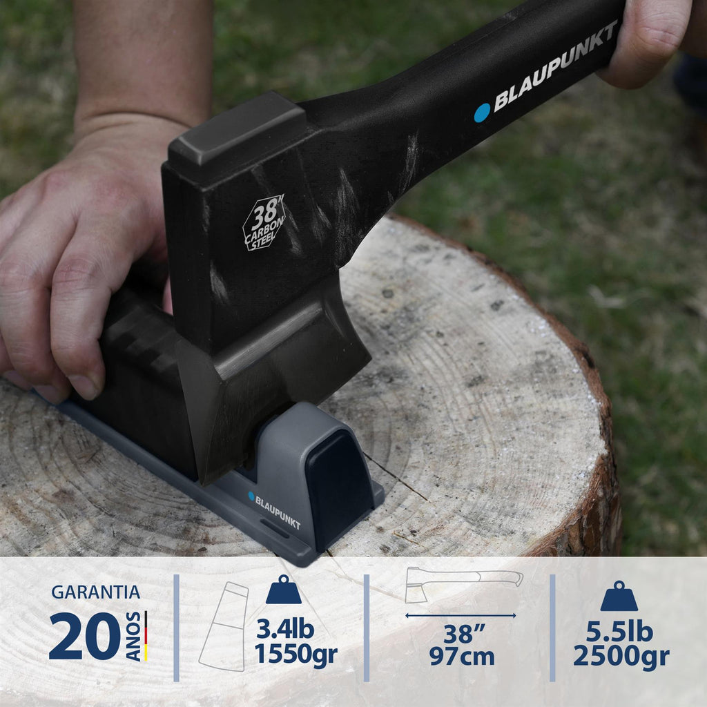 "Splitting Axe CX9000 for Wood - 5.5lb 2.5KG - Large 38"" 97cm  -  With Sharpener and Storage Mount"