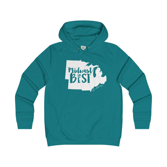 Midwest is Best - Girlie College Hoodie