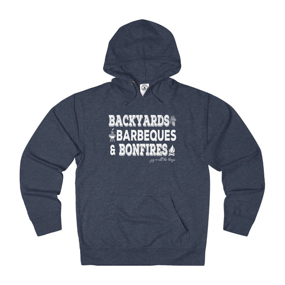 Backyards BBQs & Bonfires - Unisex French Terry Hoodie