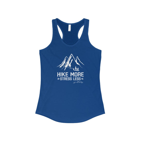 Hike More Stress Less - Women's Racerback Tank