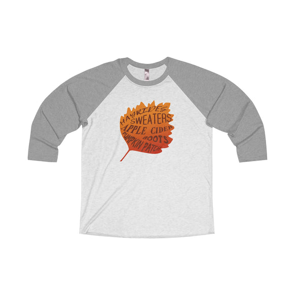 Fall Favorites - Unisex Tri-Blend 3/4 Raglan