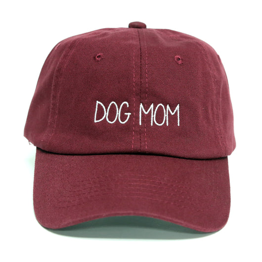 fc974b8b Dog Mom Dad Hat (Maroon) – Apparel Trap