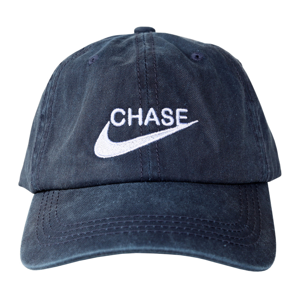 649e9b11 Chase Dad Cap (Washed Navy)