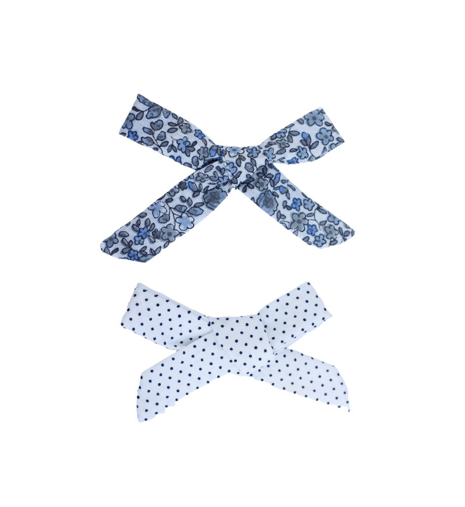 Hair bows - Bluebell