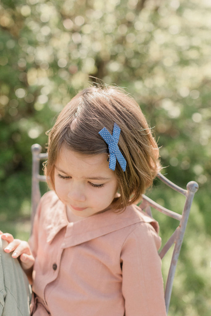 Hair bows - Mulberry