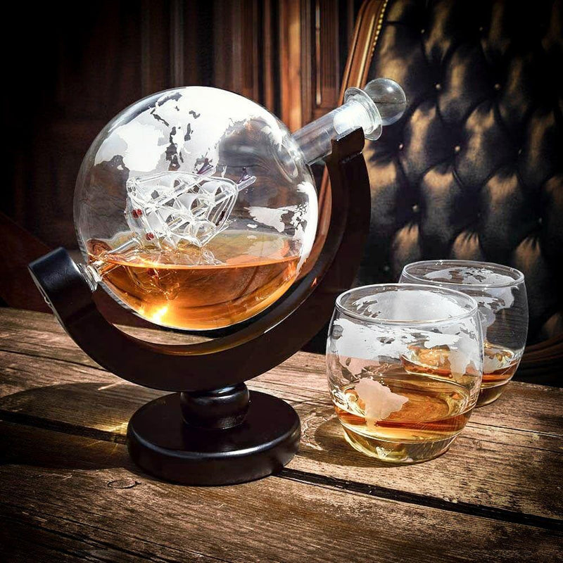 GLOBE DECANTER SET