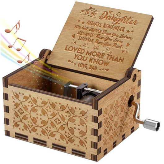 To Daughter - You Are Loved More Than You Know - Engraved Music Box