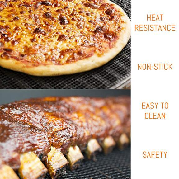 Non-Stick Barbecue Grilling Mats 3 Pcs