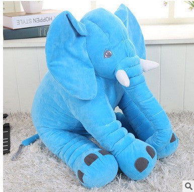 Super Cute Long Nose Elephant Grey Soft Plush Pillow