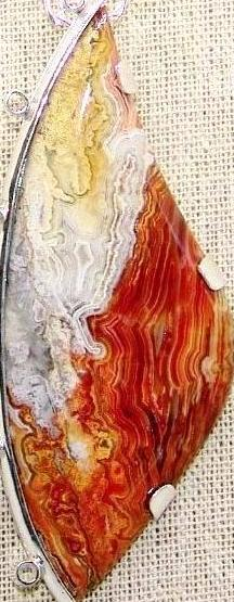 Pendant with crazy lace agate