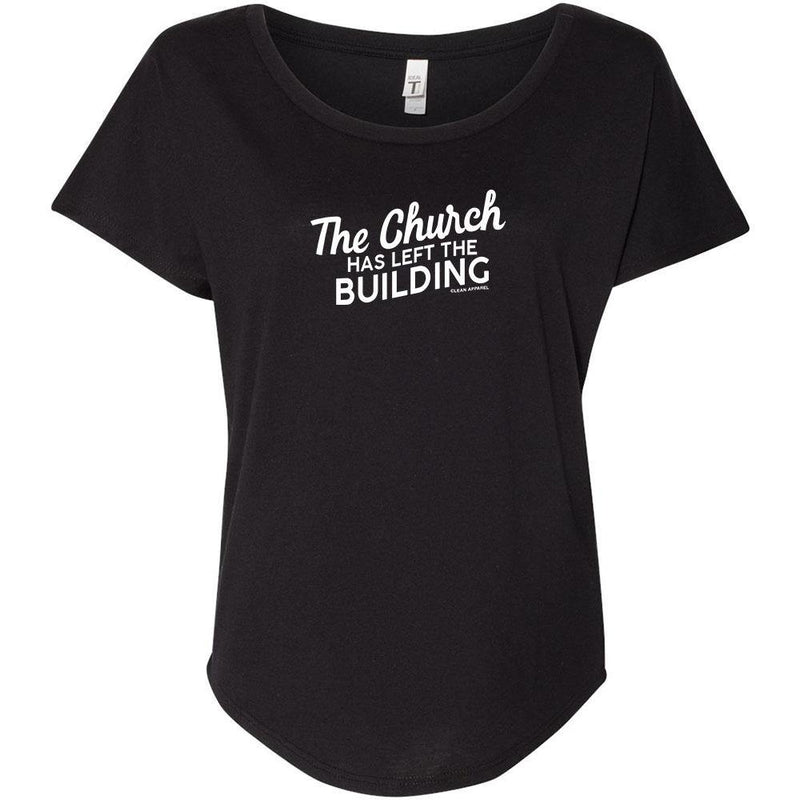 The Church Has Left The Building Ladies Slouchy Tee