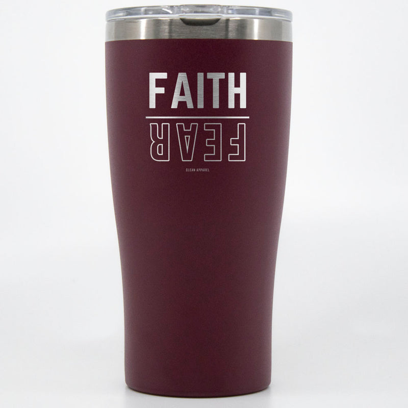 Faith Over Fear Engraved Tumblers