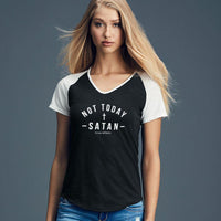 Not Today Ladies Colorblock V-Neck Tee