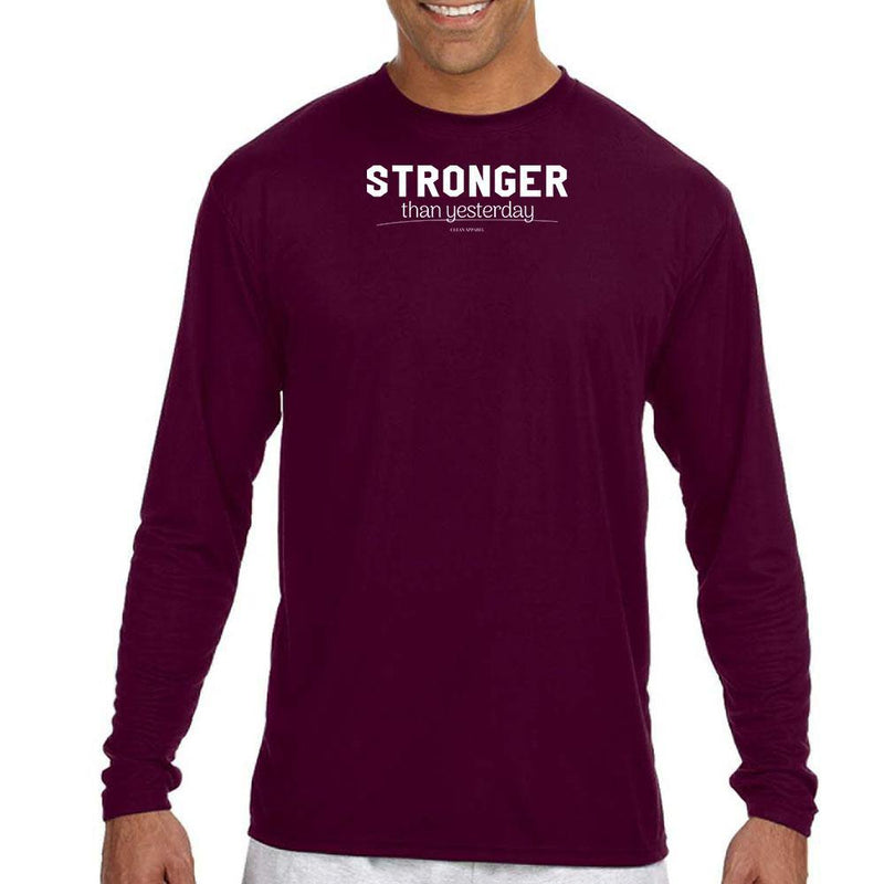 Stronger Than Yesterday Men Performance Long Sleeves