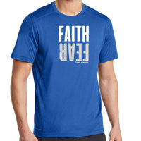 Faith Over Fear Men Performance Tees