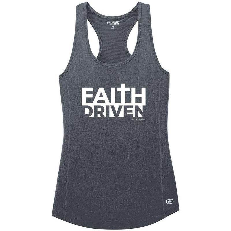 Faith Driven Ladies Athletic Tank Tops