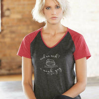 Need an Ark Ladies Colorblock V-Neck Tee