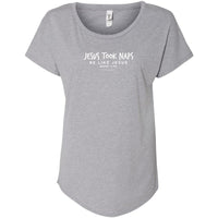 Jesus Took Naps Ladies Slouchy Tee