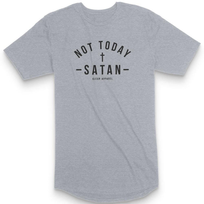 Not Today Men Curved Hem Tees