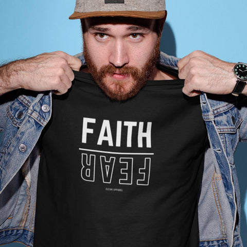 Faith Over Fear Men Tees