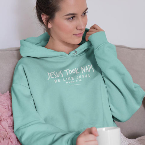 Jesus Took Naps Ladies Hoodies