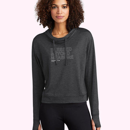 Ladies Performance Hoodie / Black Heather / XS