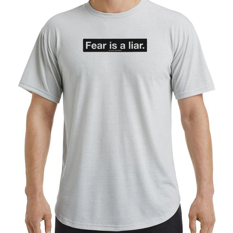 Fear is a Liar Men Curved Hem Tees
