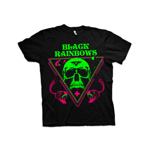 Black Rainbows - Snakes and Skull (Purple/Green) T-shirt