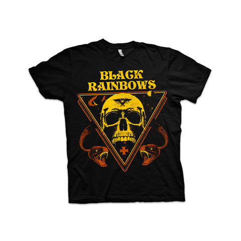 Black Rainbows - Snakes and Skull (Yellow/Brown) T-shirt