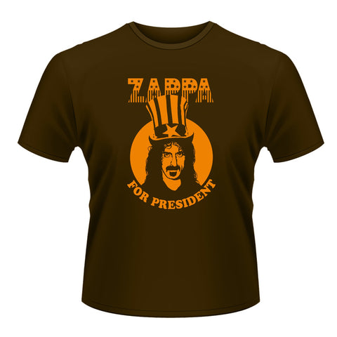 Frank Zappa - Zappa for President T-shirt (Brown)