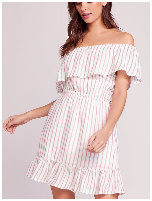 BB Dakota - Sweet Tart Off The Shoulder Dress