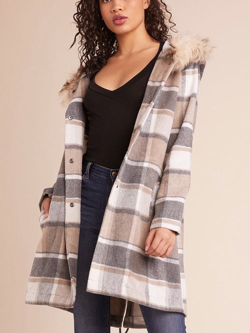 BB Dakota - You Oughta Know Plaid Coat