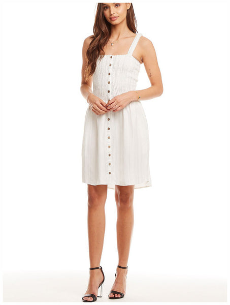Chaser Brand - Beachy Linen Smocked Mini Dress