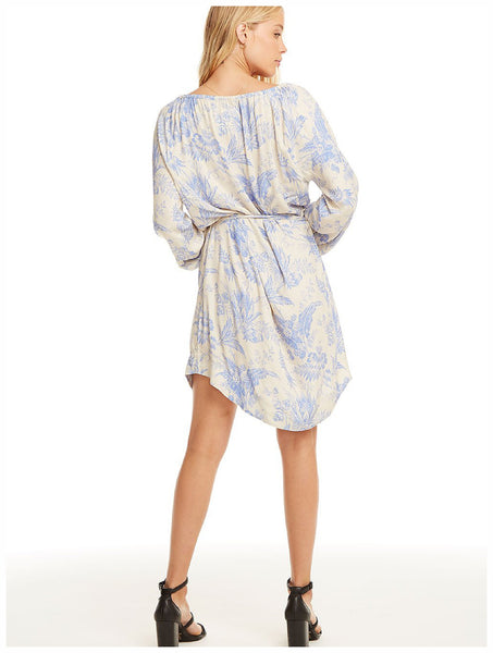 Chaser Brand Long Sleeve Hi-Lo Shirt Dress