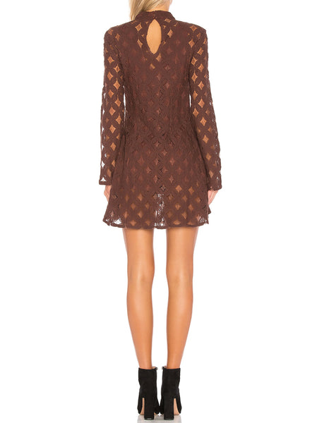 Crimson Hearts Lace Dress