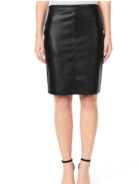 Cupcakes and Cashmere Dash Vegan Leather Pencil Skirt