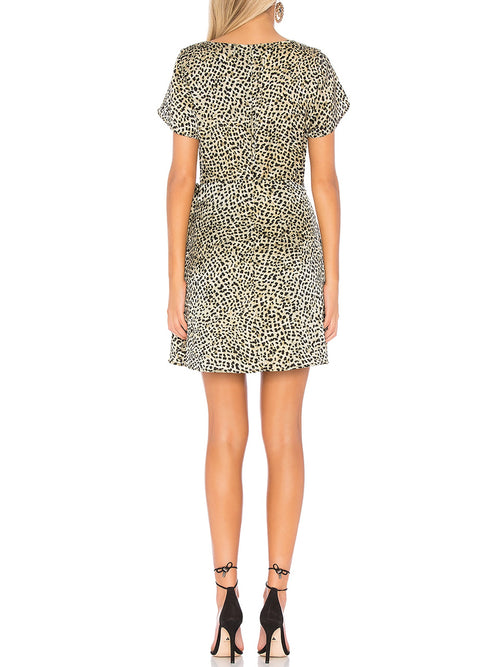 Cupcakes and Cashmere Leopard Faux Wrap Lenna Dress