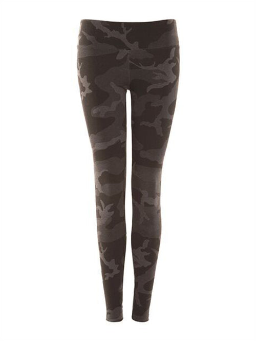 Dex Camo Legging in Grey Smoke