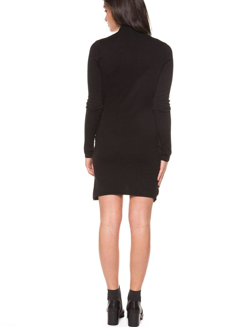 Dex - Long Sleeve Faux Wrap Dress