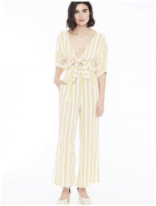 Faithfull The Brand Matese Jumpsuit Azure Stripe