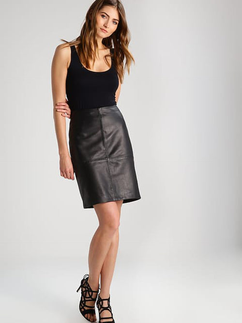 Folly Leather Skirt
