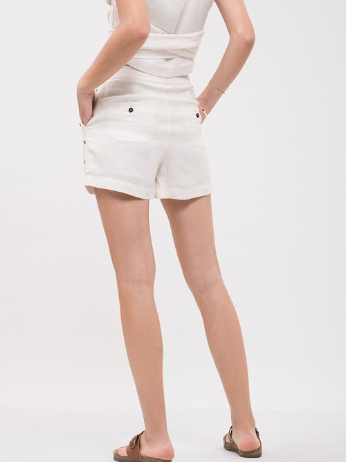 JOA High Waist Studded Shorts