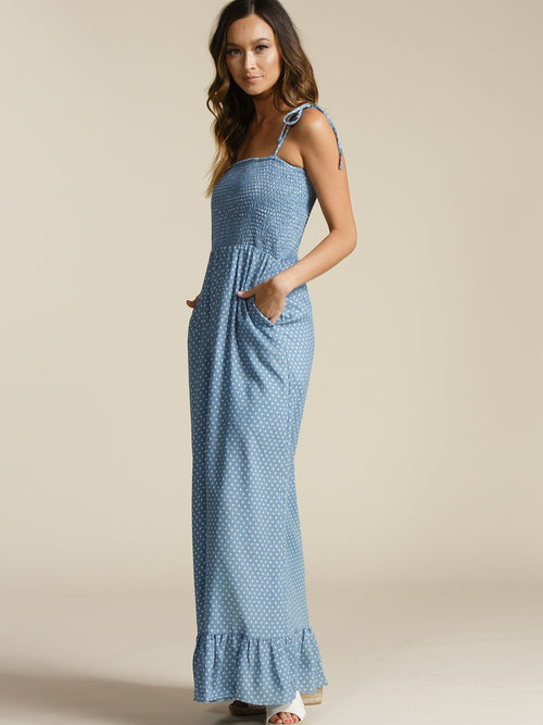 Lucca Couture Kimberly Smocked Maxi Dress