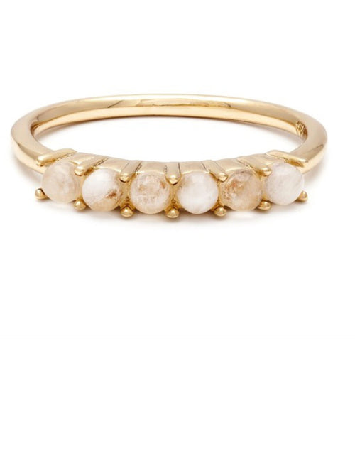Melanie Auld - Stone Band Ring - Gold/Moonstone