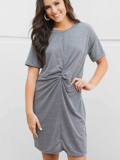 MINKPINK Twist Front Tee Dress